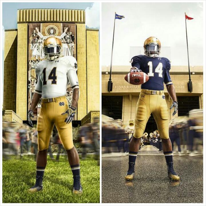 eb8b0ad90 Notre Dame Unveils 2014 Shamrock Series Uniforms
