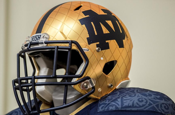 ... college football blueblood Notre Dame switched uniform manufacturers 8fc935825