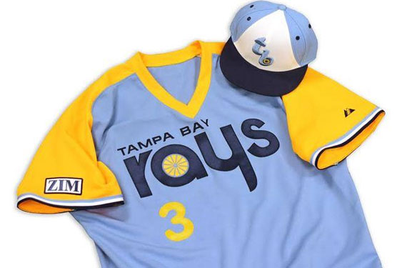 Tampa Bay Rays Road Fauxback Uniform 2014