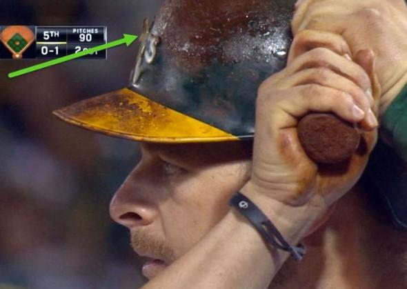 Vogt Oakland Athletics Dirty Helmet