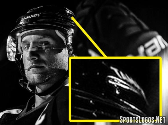The TAMPA BAY wordmark seen on the helmet