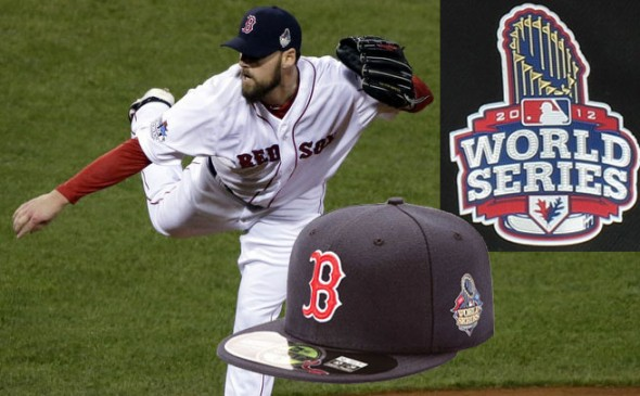 In 2012 and 2013 the cap featured a patch with the trophy behind the logo