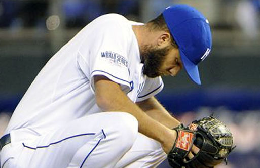 The Royals were wearing a World Series patch for the first time ever