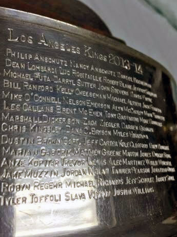 LA Kings 2014 Stanley Cup Engraving