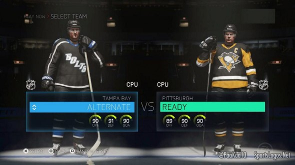 New Penguins and Lightning Uniforms in NHL15 (pic @PaaKaa10)