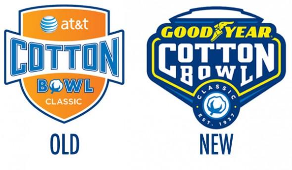 Cotton Bowl logo compare