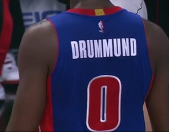 Andre Drummond Had His Last Name Spelled Wrong On His Jersey
