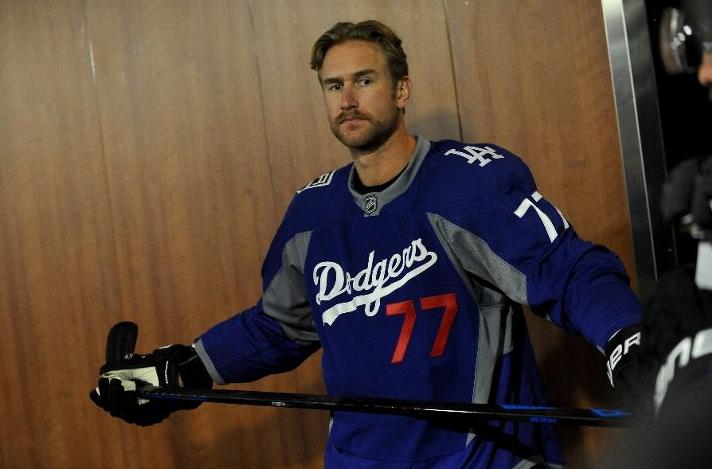 Los Angeles Kings Wear LA Dodgers Warmup Jerseys  28d5ac9b14a