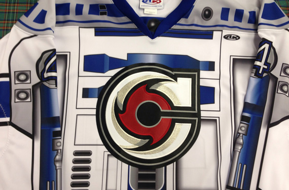 Cincinnati Cyclones start novelty jersey series with R2-D2  1bb38ecad88