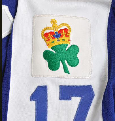 Maple Leafs' King Clancy Memorial Patch from 1986-87