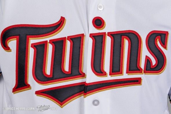 Twins jersey script detail