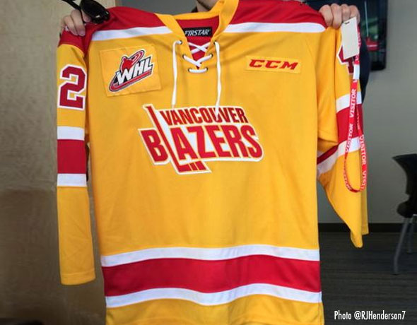 Vancouver Blazers Throwback Giants WHL 2014 9d4ce17f067