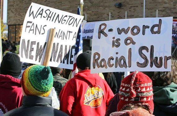 Five Thousand Protestors Outside Redskins Game Sunday