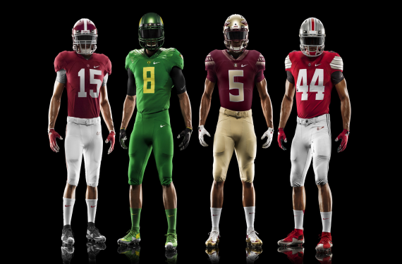 Nike Reveals Tweaked Uniforms For College Football Playoff Teams