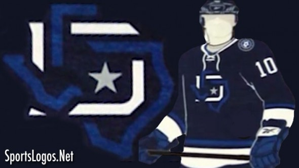 Dallas Stars Double Blue Logo Uniform Concept
