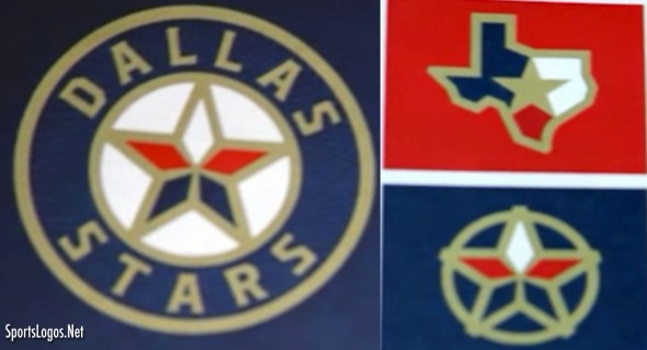 Dallas Stars Red Blue Gold Concept