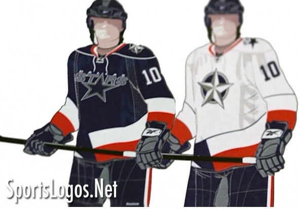 Dallas Stars Texas Themed Uniform Concept