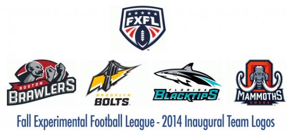 FXFL Inaugural Season 2014 Team Logos