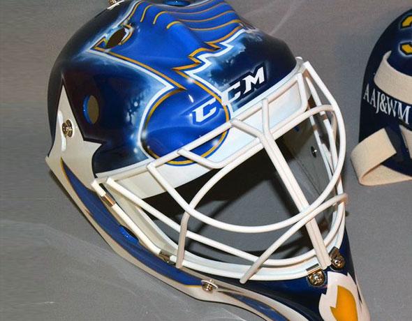 Blues Martin Brodeur Gets New Mask Design Chris Creamer S