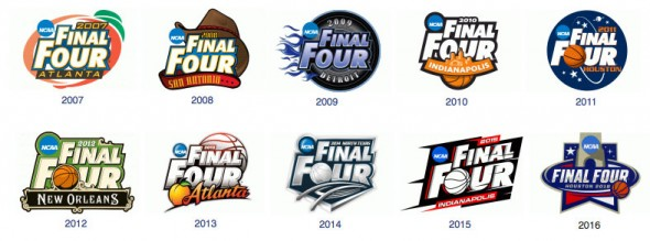 The 2016 Final Four logo ends a template which had been in place since 2006