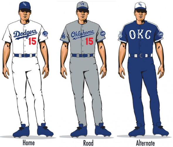 OKC Dodgers unis