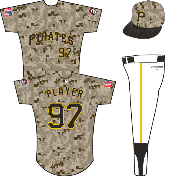 Pirates camo uniform 2015