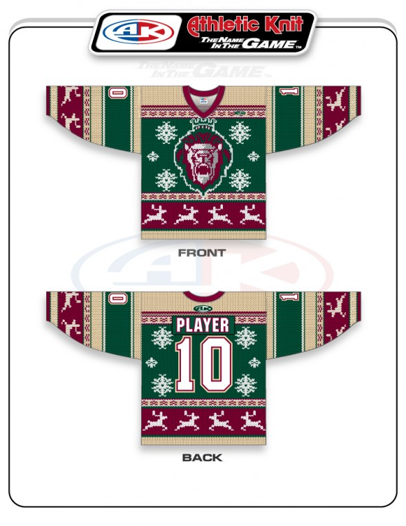 It s the holiday season so obviously it s time for an ECHL team to unveil  an ugly Christmas sweater uniform. The ECHL s Reading Royals started the  trend ... 58ffd1883