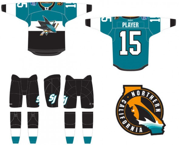 San Jose Sharks 2015 Stadium Series Jersey