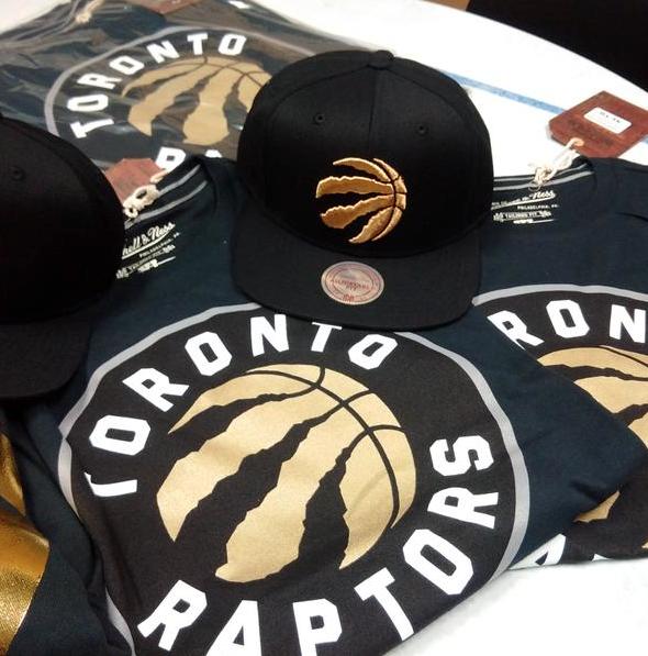 Raptors New Gold Logo on Merchandise