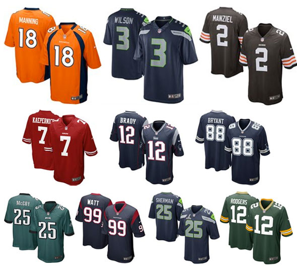 Top Ten Selling NFL Jerseys 2014