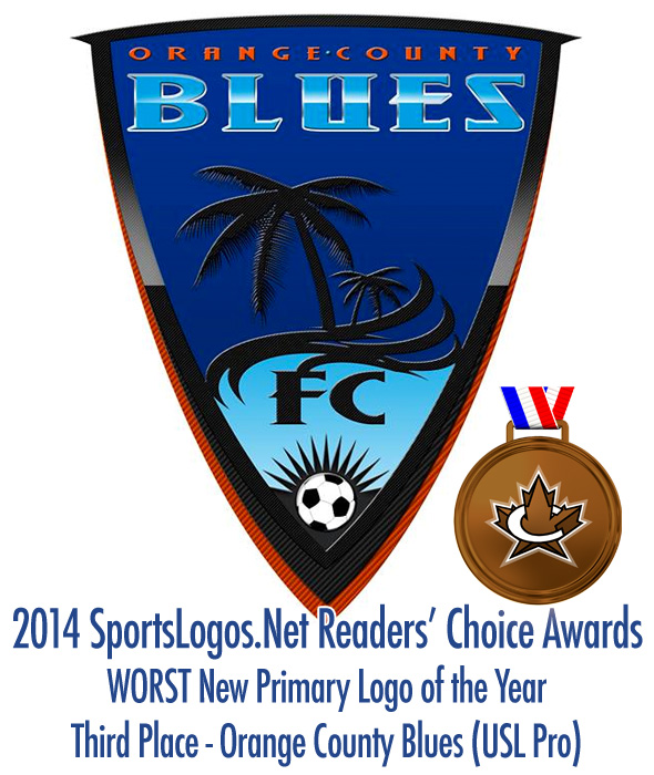 Worst Primary Logo 2014 - 3rd - Orange County Blues