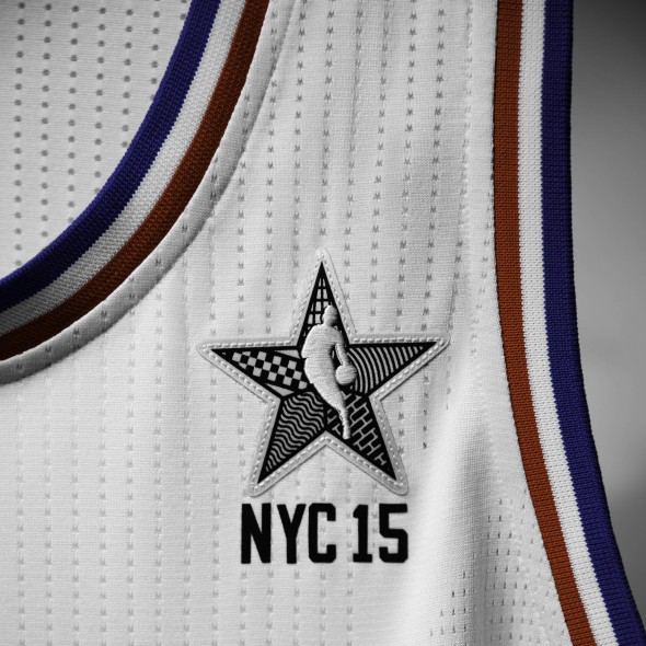 adidas NBA All-Star 2015 East Jersey, Front Patch, Sq