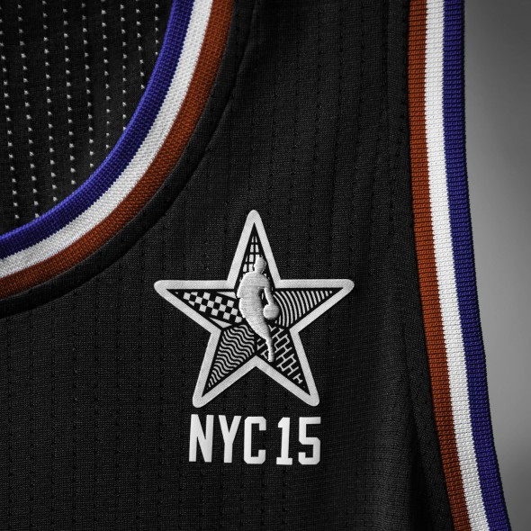 adidas NBA All-Star 2015 West Jersey, Front Patch, Sq
