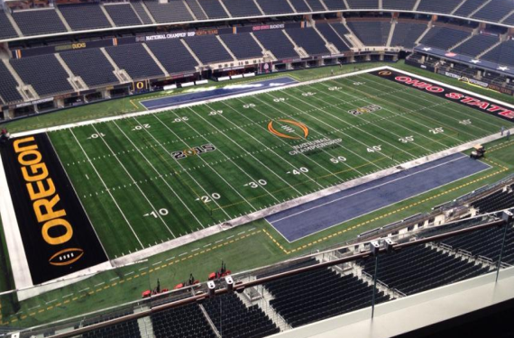 Ohio State, Oregon Both Have Black Endzones For National Championship Game