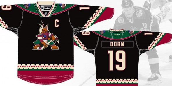 Coyotes Throwback Uniforms