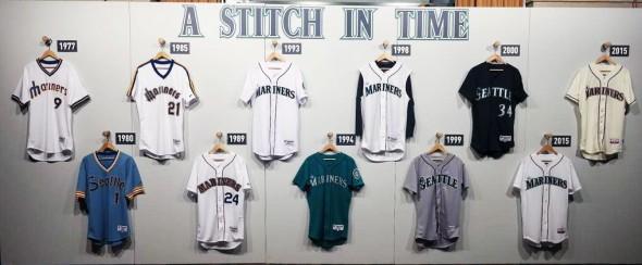 Mariners jersey history