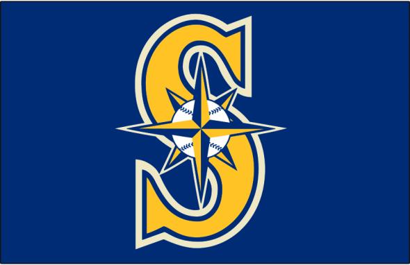 Detail of the new Mariners alternate cap logo