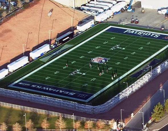 Sneak Peek at Super Bowl XLIX Field Design