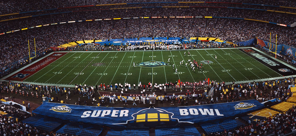 Super Bowl XXXVII Field Design | Chris Creamer's ... Rams New Uniforms