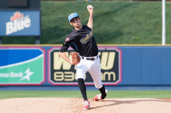 Fightin Phil Hoby Milner sports the Baseballtown uniform in August 2014. Via the team's Facebook page.