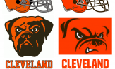 Cleveland Browns new logos 2015 compare