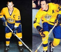 LA Kings 1967 yellow uniforms