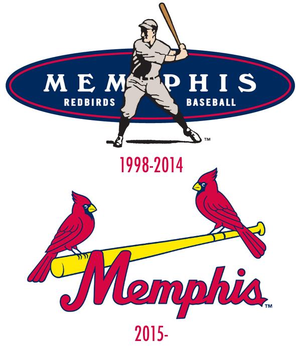 Memphis Redbirds Old and New Logo