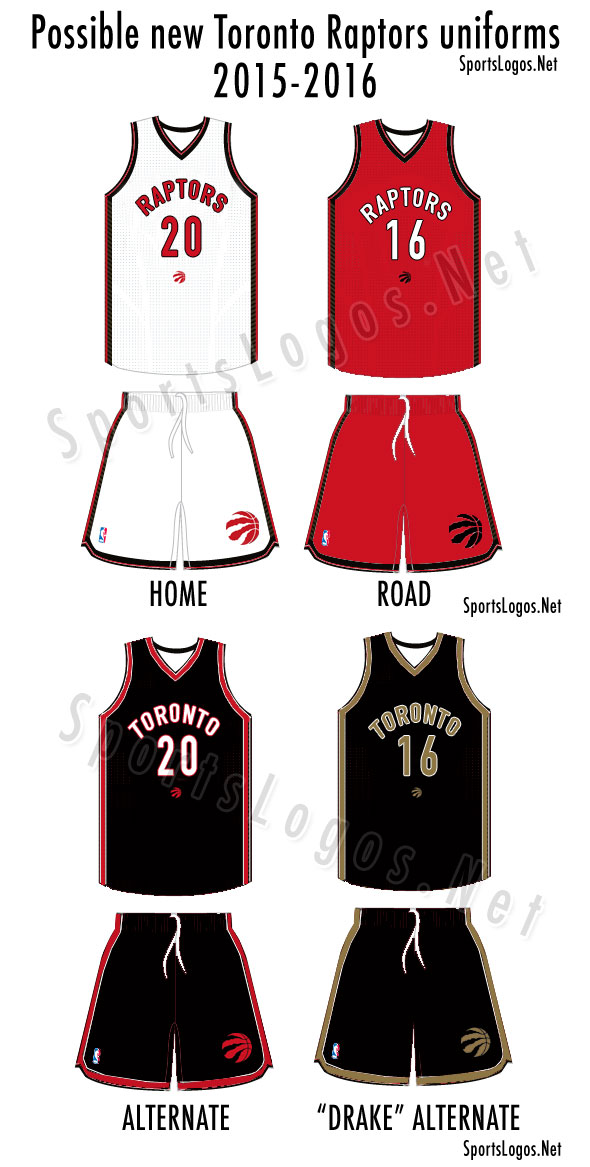 New Toronto Raptors Uniforms 2015 2016