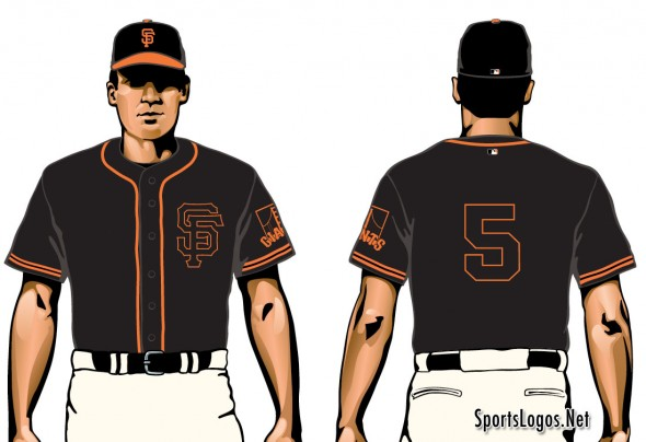 SF Giants New Black Uniform 2015
