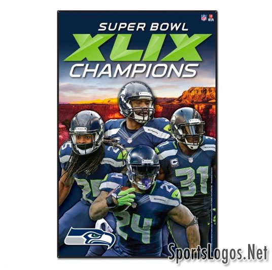 Seattle Seahawks Super Bowl XLIX Phantom Champions Banner