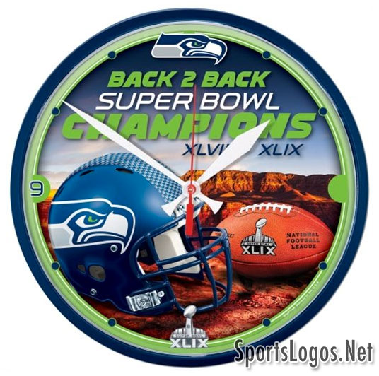 Seattle Seahawks Super Bowl XLIX Phantom Champions Clock