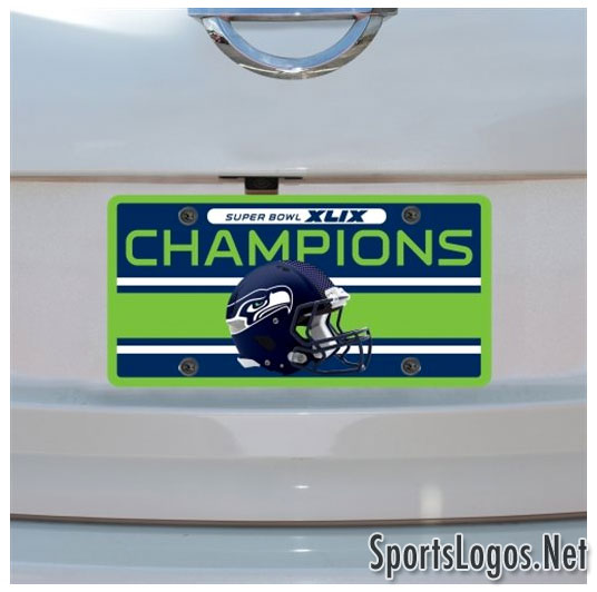 Seattle Seahawks Super Bowl XLIX Phantom Champions License Plate