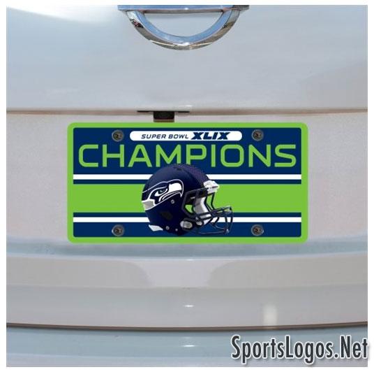 Seattle Seahawks Super Bowl XLIX Phantom Champions License Plate