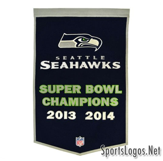 Seattle Seahawks Super Bowl XLIX Phantom Champions Pennant 2